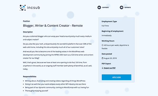 Blog About WordPress…Full Time! WPMU DEV Is Hiring Content Creators