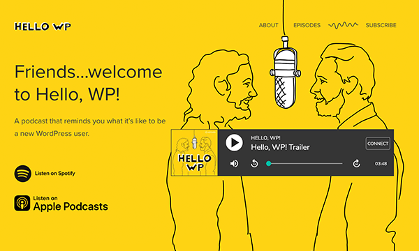 """Our WordPress Podcast """"Hello,WP!"""" Available Now"""